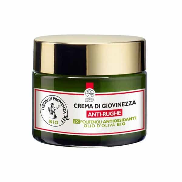 Tesori Di Provenza Crema di Giovinezza Anti-Rughe Tesori di Provenza Un balsamo prezioso per rigenerare la pelle del viso e distendere i segni dell'età.