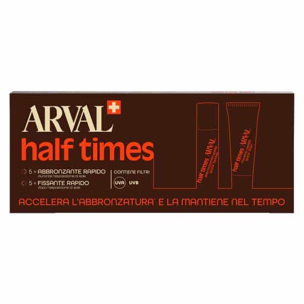 Arval Half Times Spf 6 Abbronzatura Rapida 5fl. + 5tb. <h5>Half Times SPF 6 abbronzatura rapida 5 fl. + 5 tb. 10 ml</h5>