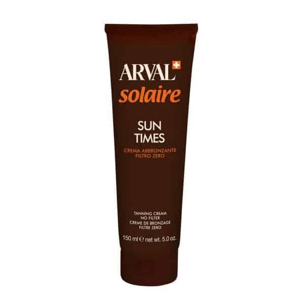 Arval Solaire Sun Times Crema Abbronzante Filtro Zero Arval <h4>Crema abbronzante filtro zero tb. 150 ml.</h4>