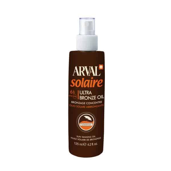 "Arval Solaire Ultra Bronze Oil Abbronzante Spf 6 Arval <div class=""title-product""> <h4>Olio solare abbronzante 125 ml</h4> </div> <div class=""box-review""> <div class=""rating""> <div class=""rating-box""></div> </div> </div>"