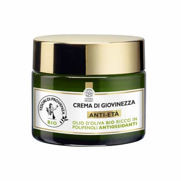 Tesori Di Provenza Crema di Giovinezza Anti-Età Giorno Tesori di Provenza Un balsamo prezioso per rigenerare la pelle del viso e distendere i segni dell'età.