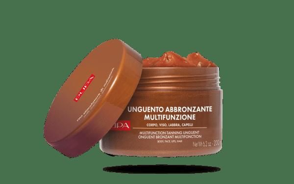 Pupa UNGUENTO ABBRONZANTE MULTIFUNZIONE - 200 ML Pupa Per corpo, labbra, capelli. Con attivatore di melanina per un'abbronzatura super rapida.