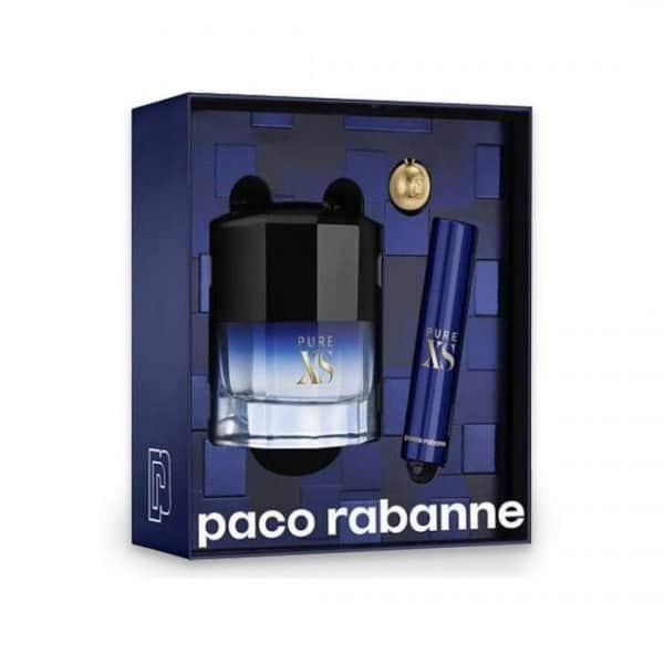 Paco Rabanne Confezione Pure XS Edt + Travel Size + Portachiavi La confezione contiene: Pure XS Edt 50ml + Travel Size 10ml + Portachiavi