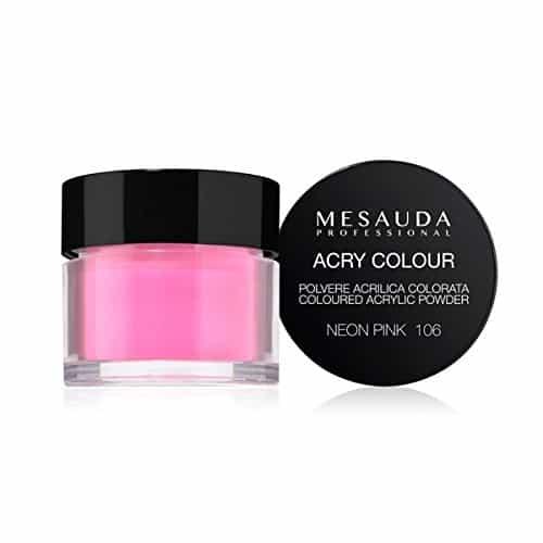 Mesauda MNP Acry-Color 106 Neon Pink MNP Mesauda Professional Polvere colorata da miscelare con i monomeri ACRY-LIQUID per effettuare la ricostruzione o realizzare nail art. Asciuga all'aria.