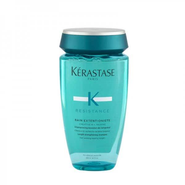 Kerastase Bain Extentioniste Shampoo Rinforzante 250ml Kerastase LINEA RESISTANCE - Uno shampoo rinforzante per capelli forti dalle radici. I capelli deboli propensi alla rottura sono rafforzati e sigillati per avere una protezione durante la loro crescita. Questo shampoo purificante è arricchito con Creatina R, un complesso attivo creato per aumentare la resistenza e l'elasticità, e Taurina, un amminoacido con effetto protettivo sulla fibra capillare. . I capelli saranno profondamente detersi per raggiungere la loro lunghezza ideale in condizioni ideali .