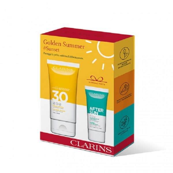 Clarins Golden Summer Crema Solare SPF 30 + Balsamo Lenitivo Doposole Clarins <p>Sun Travel Cofanetto</p>