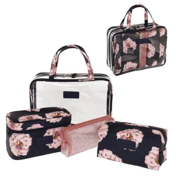 Camomilla Peony Set Beauty Bag Rosa Camomilla