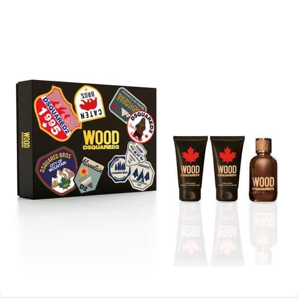 Dsquared2 Wood Pour Homme Edt + Docciaschiuma +Dopobarba Dsquared dsquared wood uomo green edt