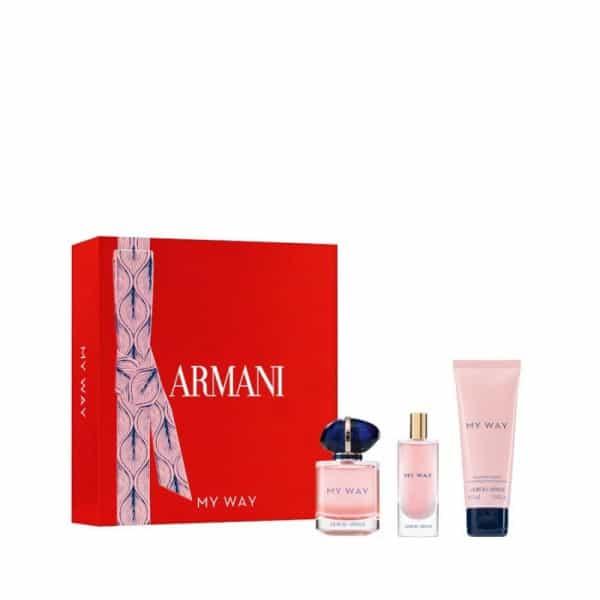 Armani My Way Edp + Taglia Da Viaggio + Crema Corpo Giorgio Armani
