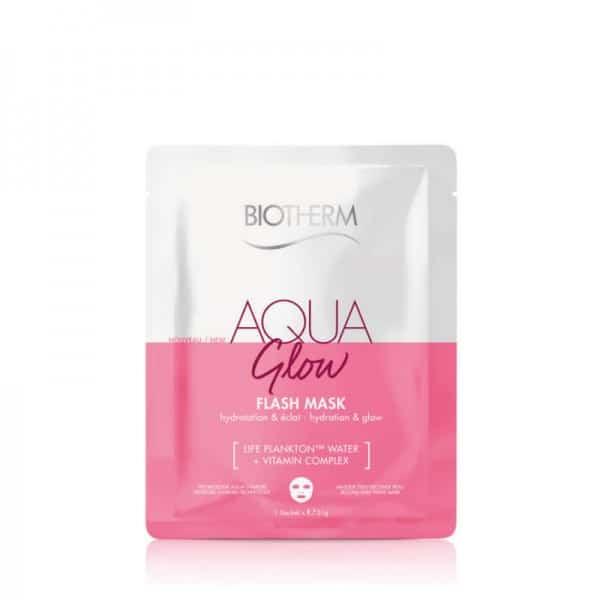 Biotherm Aqua Glow Flash Mask Life Plankton Biotherm Maschera viso in tessuto monouso. Idratante & purificante.