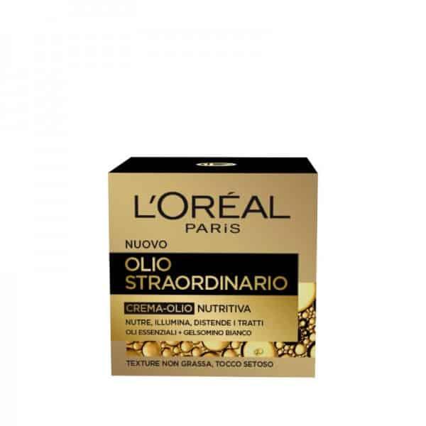 L'Oreal Olio Straordinario Crema-Olio Nutritiva L'Oreal Crema viso-Olio nutriente pelli secche e sensibili giorno.