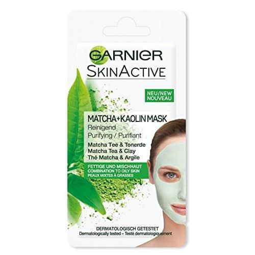 Garnier Maschera Monodose The Macha e Argilla Garnier Maschera purificante all'estratto di tè matcha e argilla per pelli miste o grasse