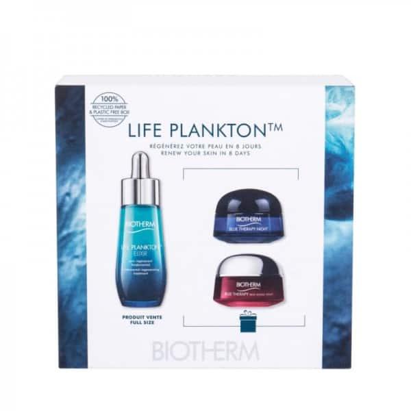 Biotherm Life Plankton + Blue Therapy Crema Notte + Blue Therapy Alga Rossa Biotherm <p>Un<b>trattamento potenziato</b>, combinato con oli naturali infusi con l'1.1 % di frazione pro-biotica di<b>Life Plankton</b>: la più alta concentrazione di frazione pro-biotica di<b>Life Plankton</b>in un latte per il corpo.</p>
