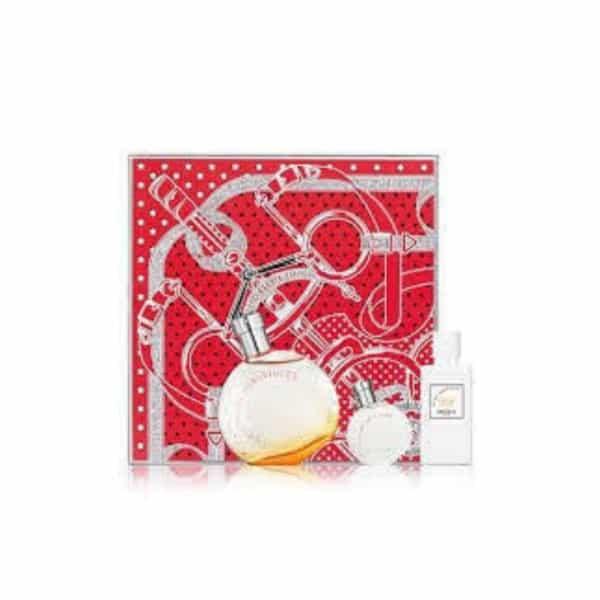 Hermes Confezione Au Des Mervilles Edt + Latte Corpo + Miniatura Hermes Il cofanetto contiene: Hermes Confezione Au Des Mervilles Edt 50ml + Latte Corpo 40ml + Miniatura 7,5ml
