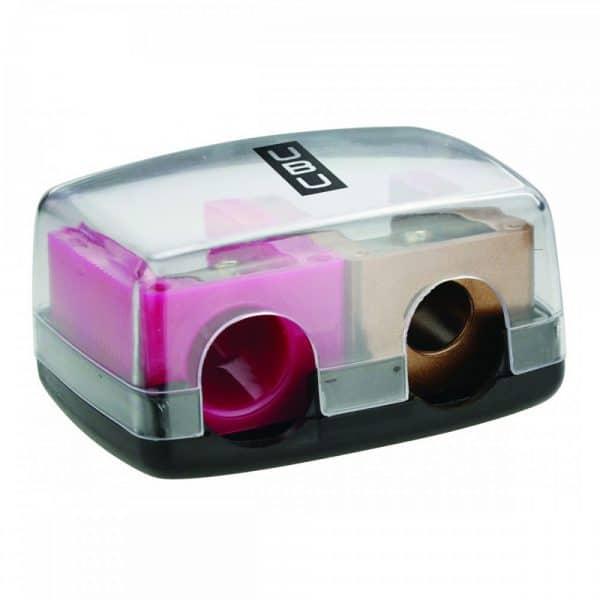 UBU Temperino Diva Duo Compatibile con la maggior parte delle matite per occhi, sopracciglia e labbra.
