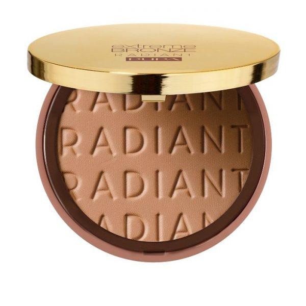 Pupa Extreme Bronze Radiant Terra Abbronzante Pupa Crema Idratante Colorata + Primer Viso. Tutti i Tipi Di Pelle.