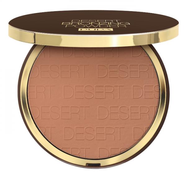 Pupa Desert Bronzing Powder Terra Compatta Pupa Crema Idratante Colorata + Primer Viso. Tutti i Tipi Di Pelle.